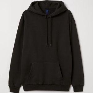 H&M l Women's Black Hooded Sweatshirt